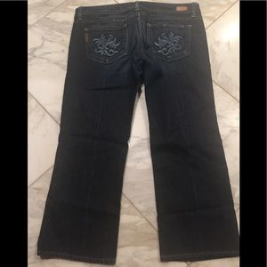 Paige Jeans ankle cropped size 32  looks like new